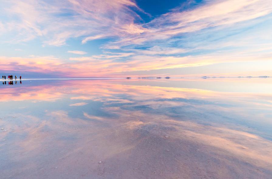 ウユニ塩湖の色の変化04