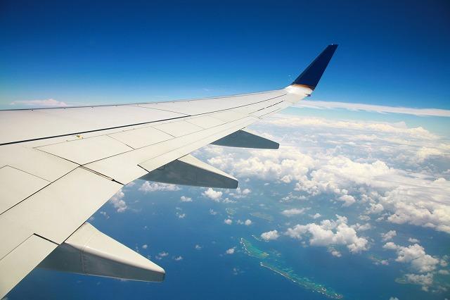 飛行機からみた景色