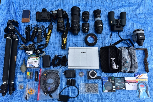 2015年12月のテカポ遠征時の撮影用機材写真