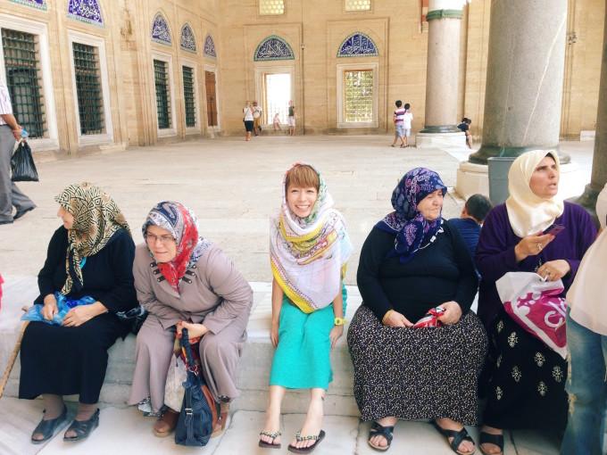 ↑★08★トルコ・イスラム教モスクにて。