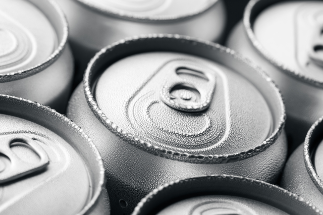 Pattern from much of drinking cans of beer