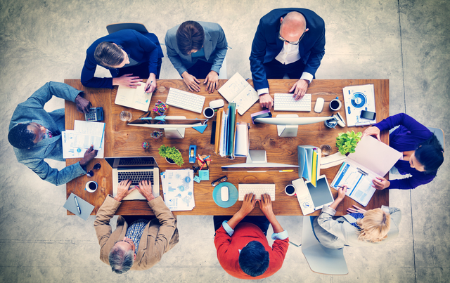 Multi-Ethnic Group of People Working Together Concept