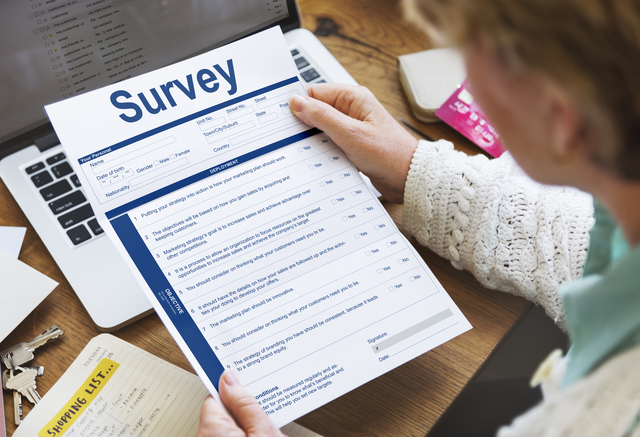 Survey Form Research Marketing Mark Concept
