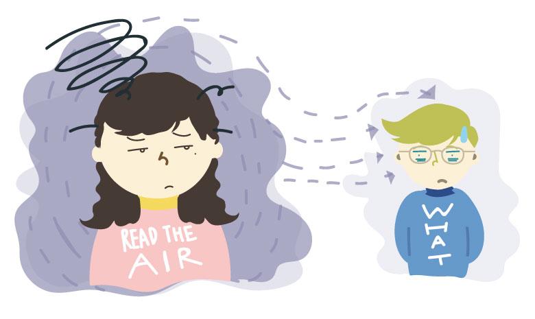 空気を読む