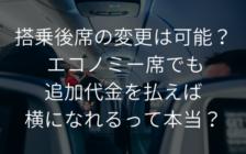 搭乗後席の変更は可能? エコノミー席で追加代金を払えば横になれるって本当? | プロフェッショナルに聞いてみよう