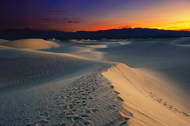 Sunrise over Mesquite Dunes, Death Valley National Park