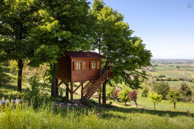 イタリアのツリーハウス