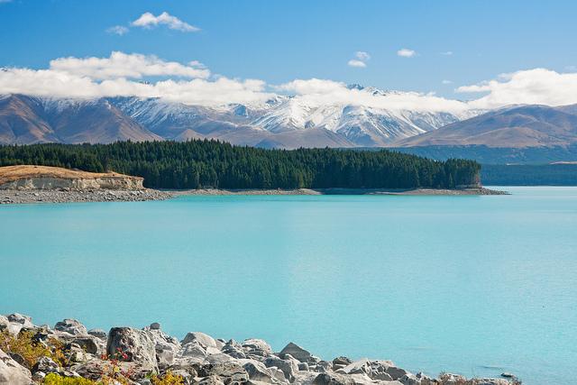 クック山を望むプカキ湖