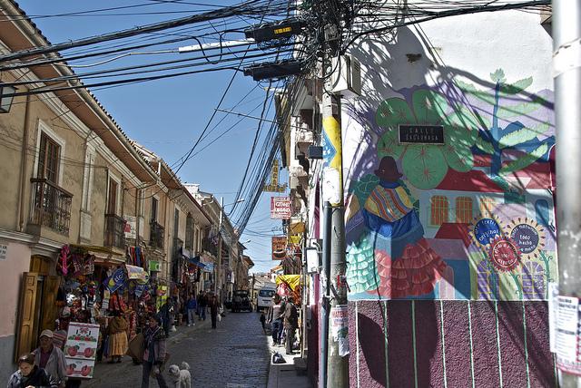 ボリビアのサガルナガ通り