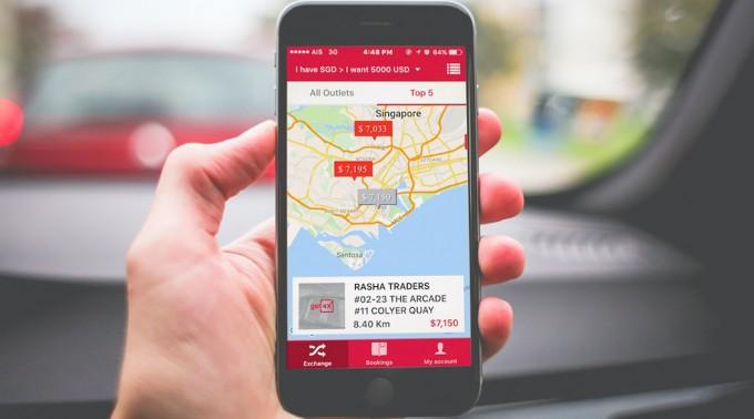 両替所の位置とレートをマップに一覧表示するアプリ「Get4x」が登場