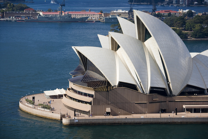 The Sydney Opera House in the city of Sydney in Australia.