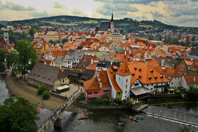 チェコの都市であり世界遺産チェスキー・クルムロフ