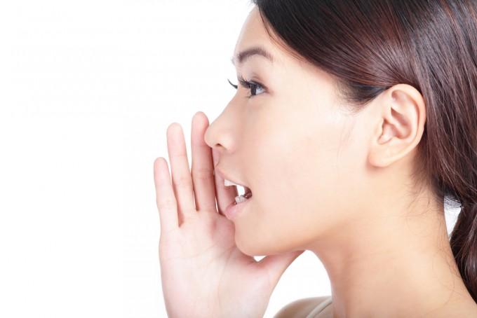 口腔断面図で口の形と舌の位置を確認する