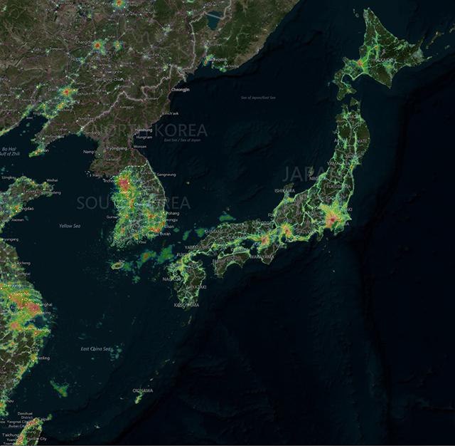 光害マップ