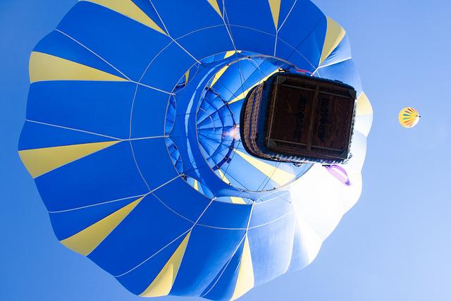 アメリカのアルバカーキ国際気球フェスタの絶景
