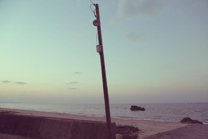 今帰仁村の美しいビーチ