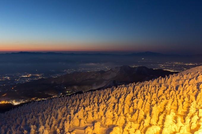 山形県蔵王温泉スキー場樹氷 (3)