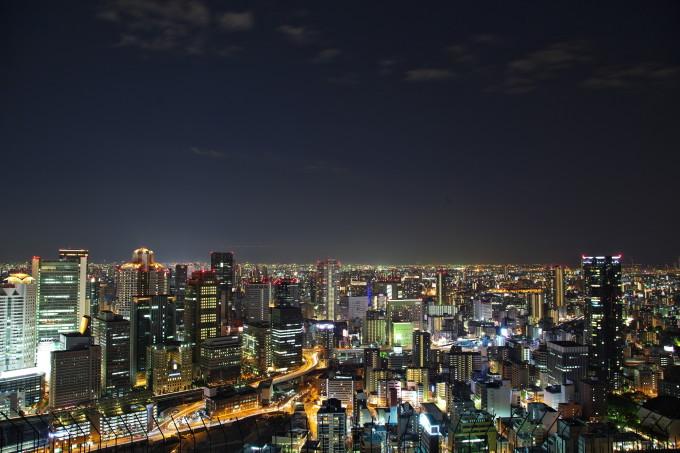 大阪の美しい景色・空中庭園展望台