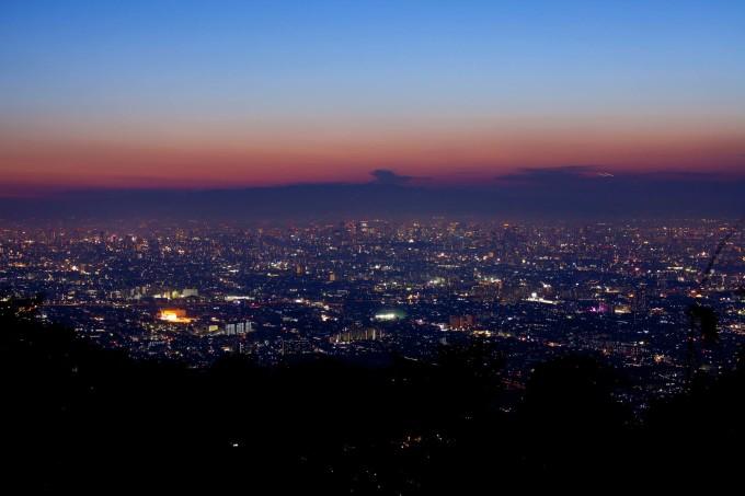 大阪の美しい生駒山
