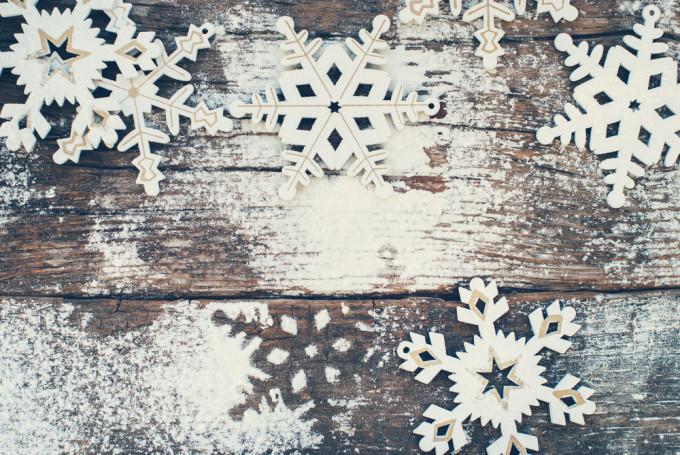 雪化粧のインテリア