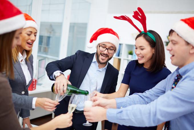 社内のクリスマスパーティー
