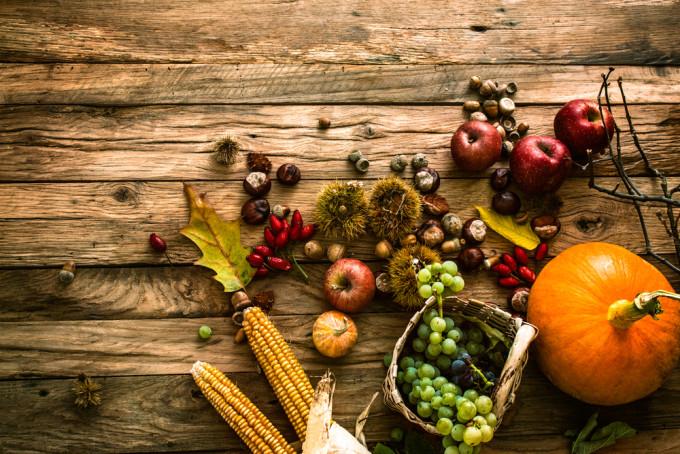 秋の食べ物をまとめた画像