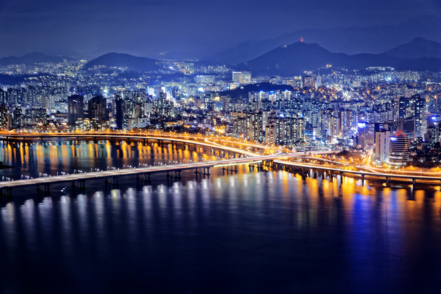 Seoul at night, South Korea