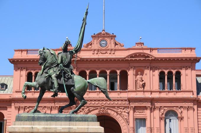 アルゼンチン大統領府(ピンクハウス)