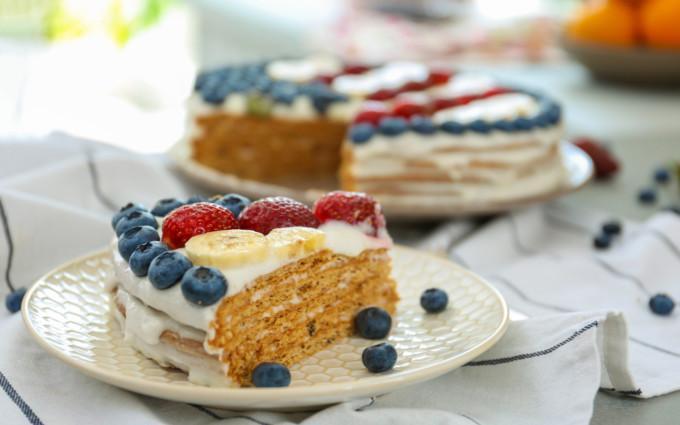 アメリカフラッグベリーケーキ