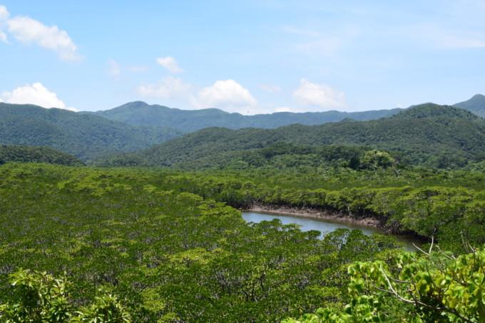 後良川(シイラ川)の展望台