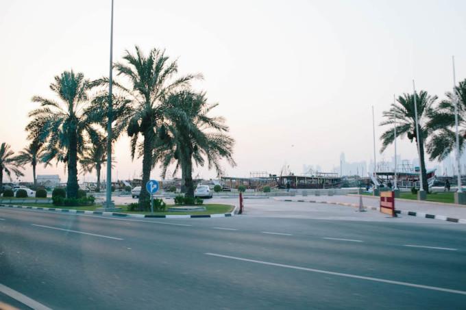 カタール航空から街までの道のり