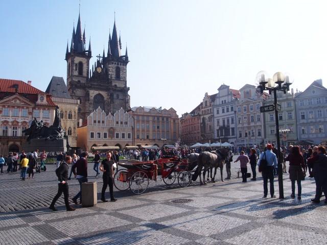 プラハにある旧市街の景色