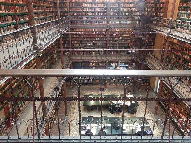 アムステルダム国立図書館を上から見た図