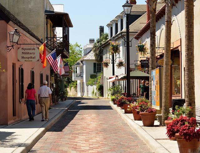 フロリダの歴史ある街並み