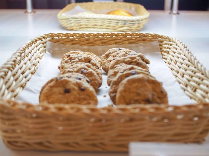 クルーズ船内のパン屋のクッキー
