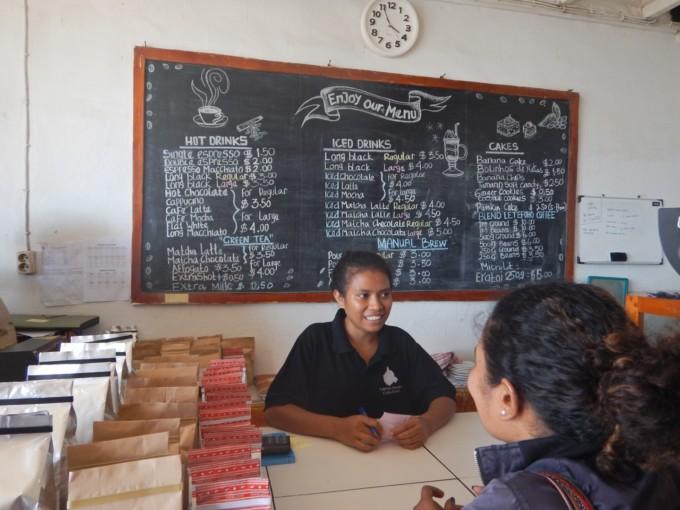 東ティモールのコーヒー屋