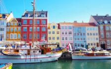 コペンハーゲンのニューハウンの街並み