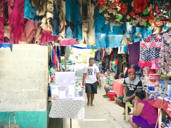 キリバスのローカルマーケット