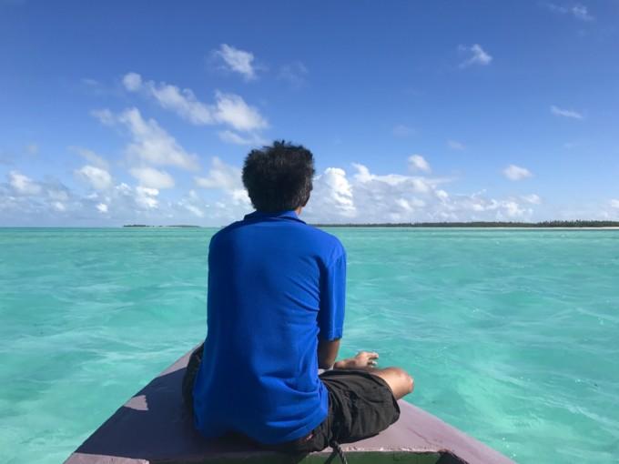 キリバスの海