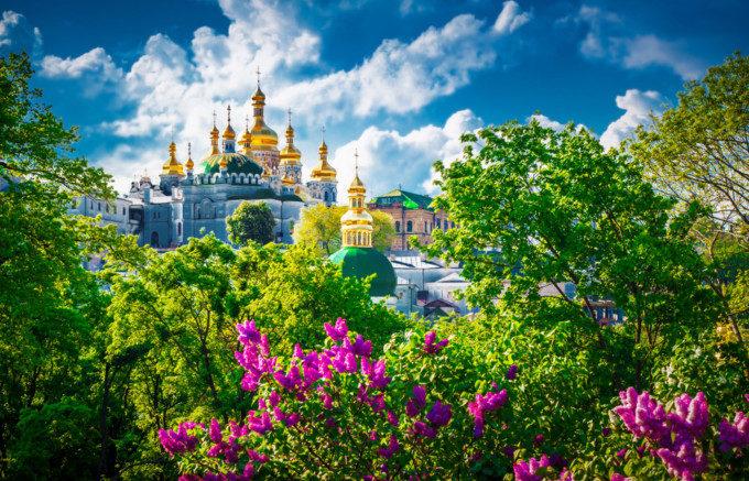ウクライナのお城の絶景