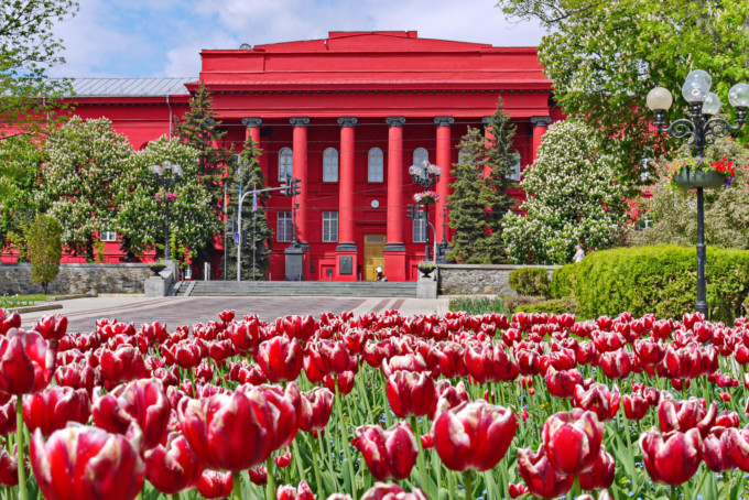 外観が素敵なキエフ大学