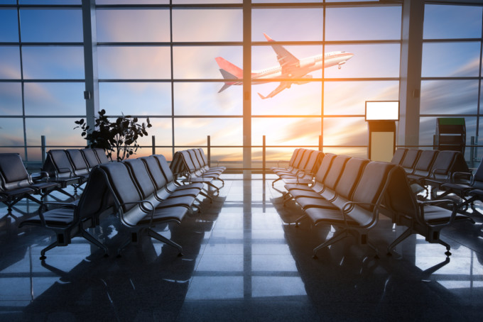 空港から眺める景色