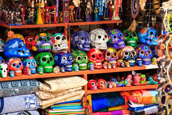プラヤデルカルメンの死者の日装飾