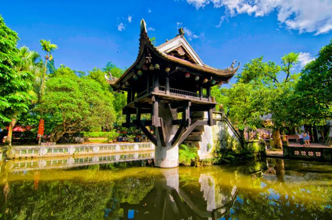 ハノイの美しい寺院