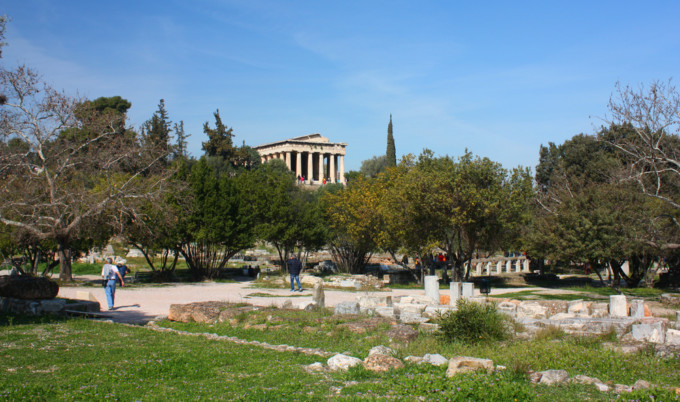 アテネにあるアゴラ神殿