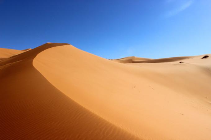 ゴビ砂漠の美しい景色