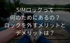 SIMロックって何のためにあるの?ロックを外すメリットとデメリットは? | プロフェッショナルに聞いてみよう