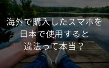 海外で購入したスマホを日本で使用すると違法って本当? | プロフェッショナルに聞いてみよう