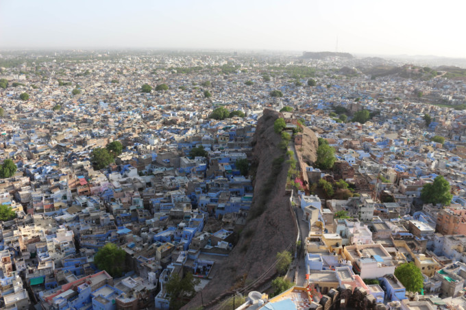 メヘランガル城から見た街並み