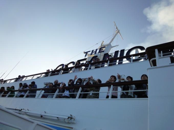 ピースボートの船内